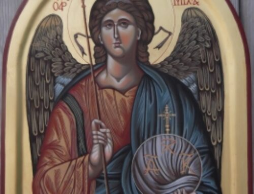 Ærkeengel Michael Malet til Very Rev. Michael Weeder St. George Cathedral, Cape Town Str. 28 x 34 cm